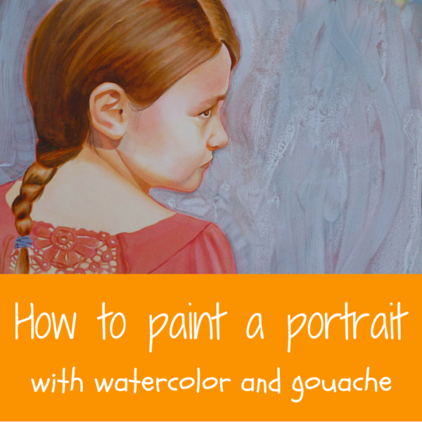 Painting portraits with watercolor and gouache by Sandrine Pelissieron ARTiful, painting demos