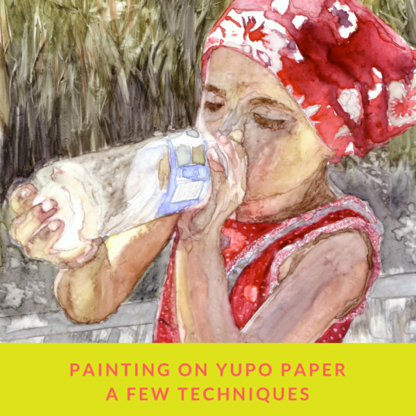 Painting on Yupo paper, a few techniques on ARTiful, painting demos by Sandrine Pelissier