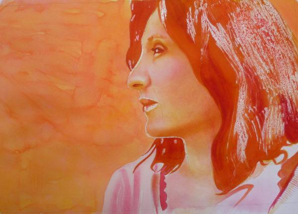 watercolor portrait painting techniques, layering colors