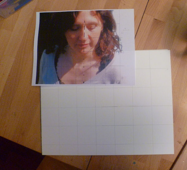 squaring a picture for painting