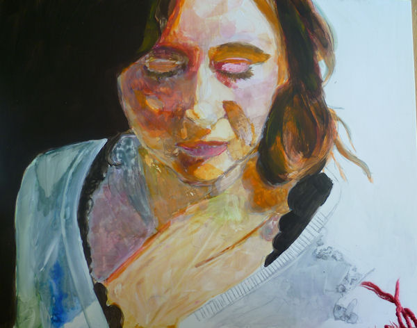 acrylic painting on yupo paper demonstration