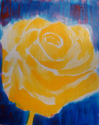 acrylic and mixed media flower painting step by step