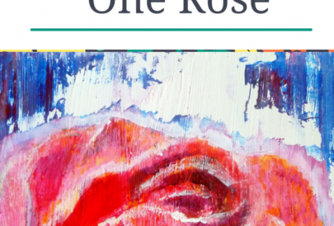 Acrylic and oil pastel flower painting tutorial - One Rose (1)