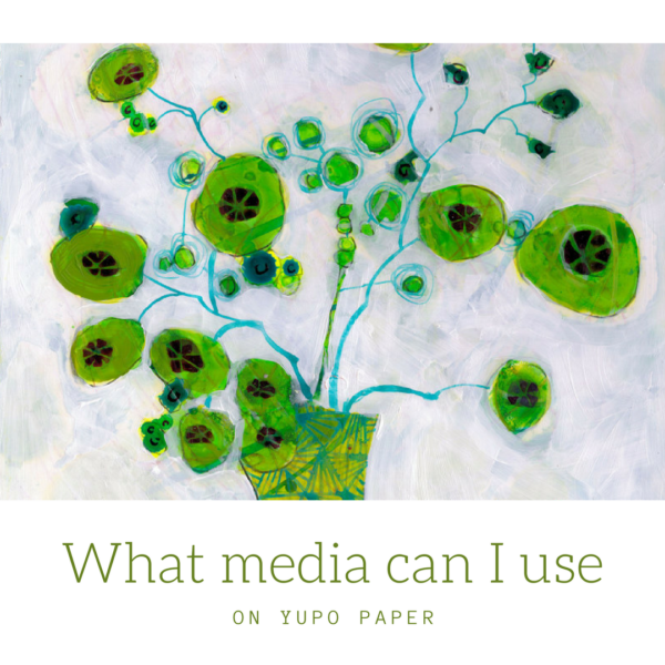 What media can I use on Yupo paper by Sandrine Pelissier on ARTiful, painting demos