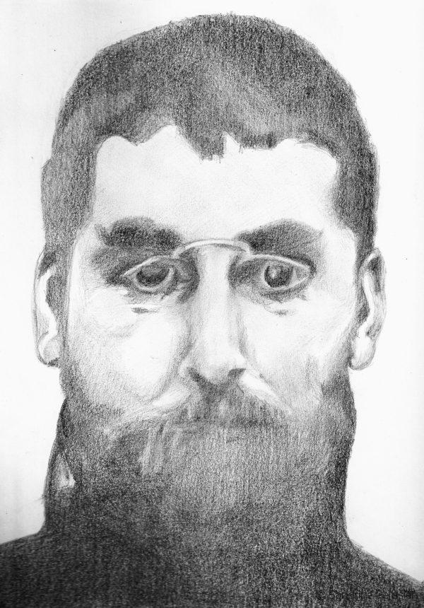 Ramon Casas, graphite on paper