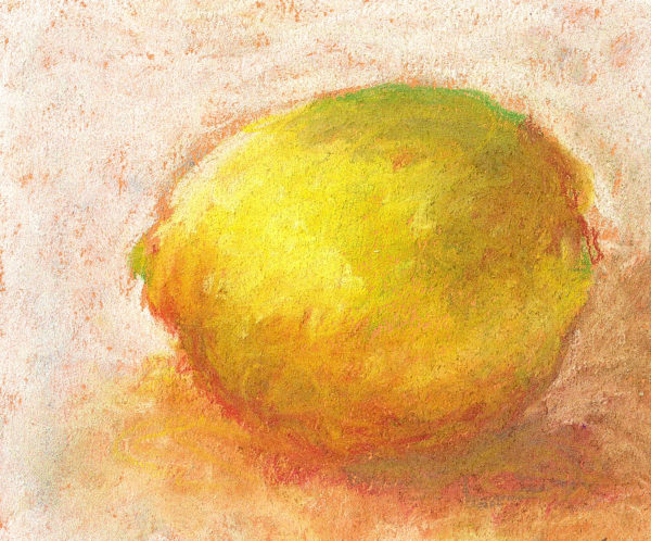 lemon ,pastels on paper