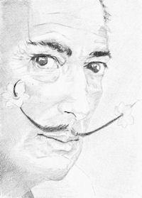 Dali portrait drawing