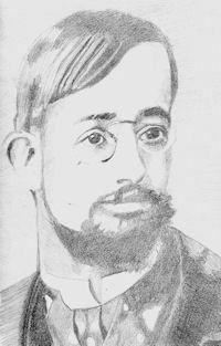 Lautrec, a pencil portrait from a famous artists series