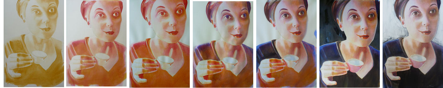 591 all new acrylic portrait painting step by step
