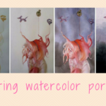 Layering watercolors to paint a portrait