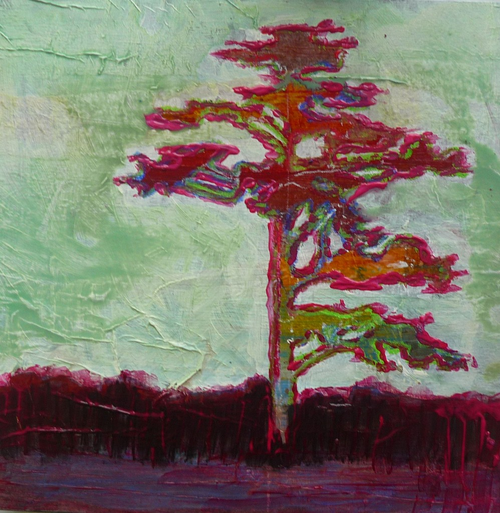 a step by step mixed media painting tutorial   rainforest tree