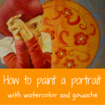 Step by step Watercolor Portrait painting tutorial : Vermilion