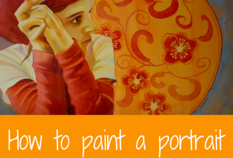 How to paint a watercolor portrait with watercolor and gouache by Sandrine Pelissier on ARTiful, painting demos