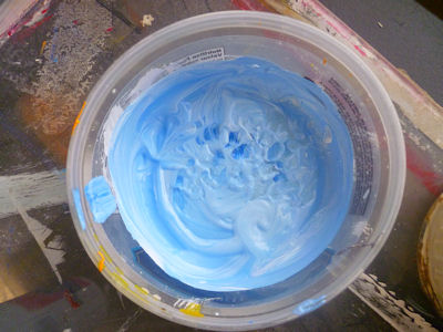 using tempera paint for resist technique