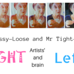 Mrs Messy-Loose and Mr Tight-n-Tidy, Artists' right and left brain