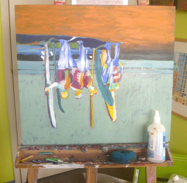scrubbing off acrylic paint