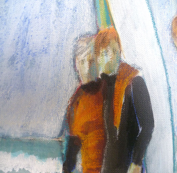 edge quality in acrylic and mixed media paintings