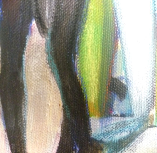 edges quality in acrylic and mixed media paintings