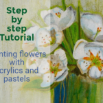 Bouquet de Printemps, Acrylic and pastels flower painting tutorial