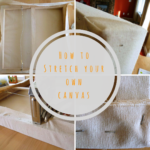 Stretching canvas over frame, or how to reuse your old frames