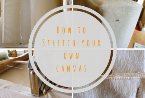 How to stretch your own canvas by Sandrine Pelissier on ARTiful, painting demos