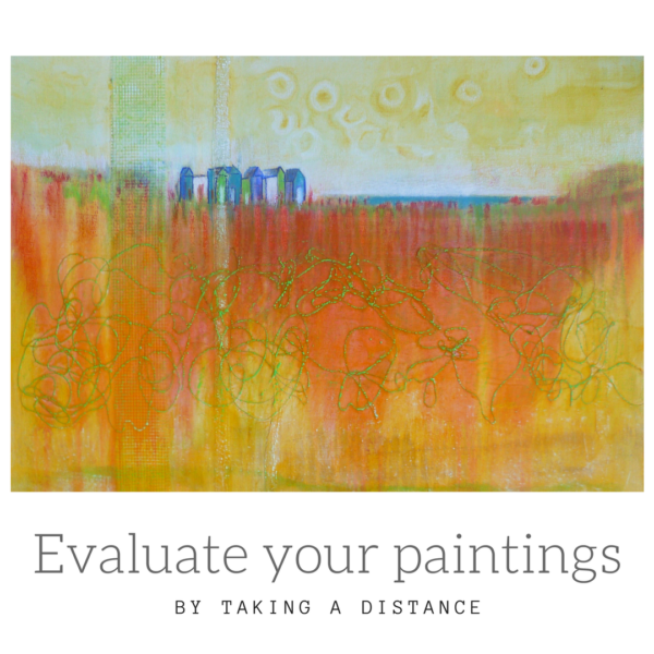 Take a distance to evaluate your paintings by Sandrine Pelissier on ARTiful, painting demos