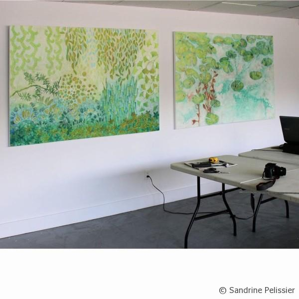 intuitive paintings in the North Vancouver studio