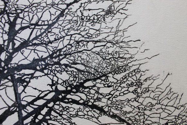 paint trees with ink