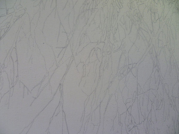 drawing tree branches on canvas