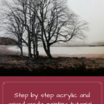 Step by step acrylic and mixed media painting tutorial, Recycling Life