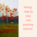 Falling- Acrylic and mixed media step by step tree painting tutorial