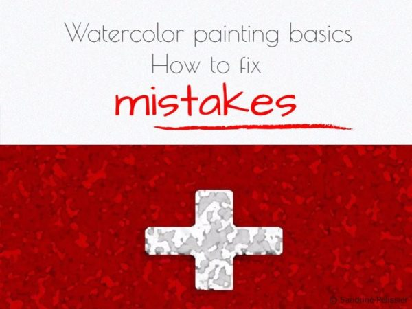 How to fix watercolor mistakes
