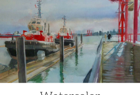 Painting a watercolor landscape by Sandrine Pelissier on ARTiful, painting demos