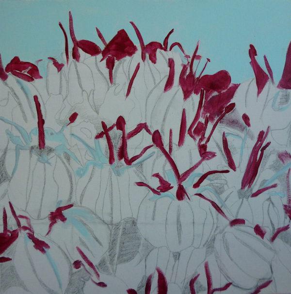 flowers painting technique