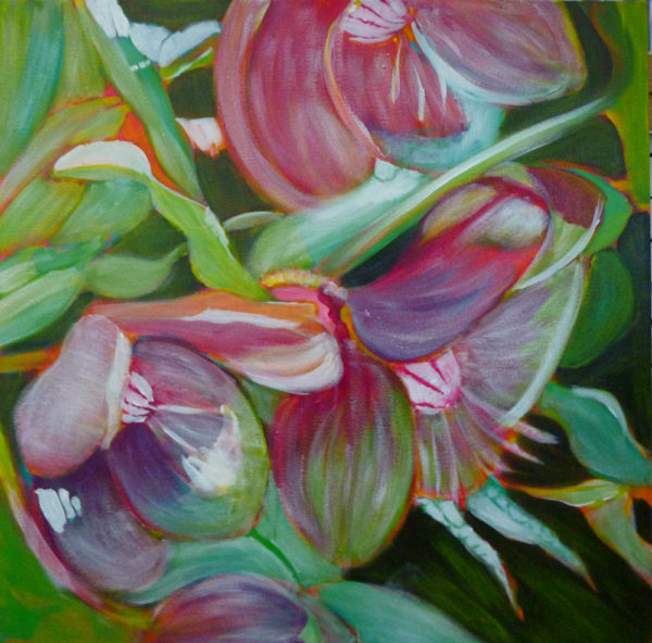 learn to paint flowers with acrylic