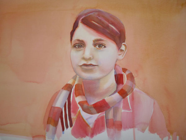 using watercolors to paint portraits