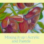 Helleborus Orientalis, mixed media painting tutorial
