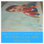 Multi-colored days, watercolor and mixed media painting tutorial