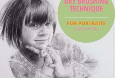 Dry brushing techniques for portraits a video tutorial on ARTiful painting demos by Sandrine Pelissier