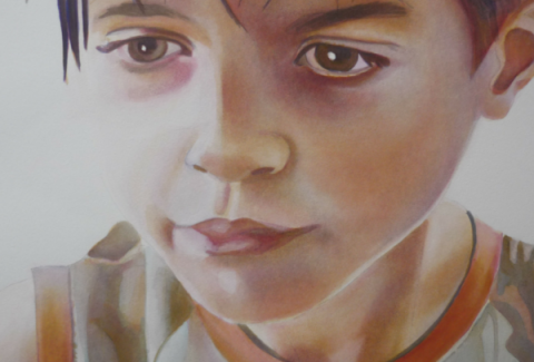 Painting watercolor portraits layer by layer by Sandrine pelissier