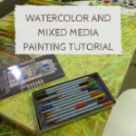 Watercolor and mixed media painting tutorial : Playing in the grass.