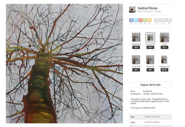 buy prints by North Vancouver artist Sandrine Pelissier