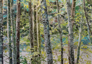 watercolor painting on paper by North Vancouver artist Sandrine Pelissier