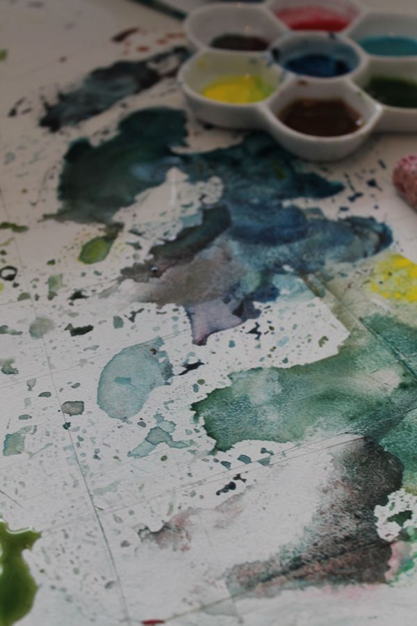 mixing colors directly on my table