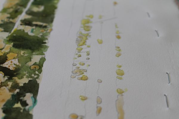 preserving white of the paper with masking fluid