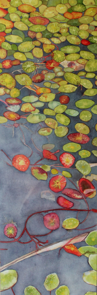 how to paint lily pads with watercolor