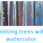 The Trees Place : Layering watercolors to paint trees