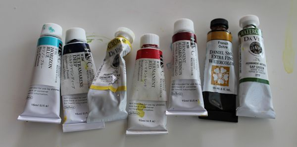 watercolor painting palette for portraits