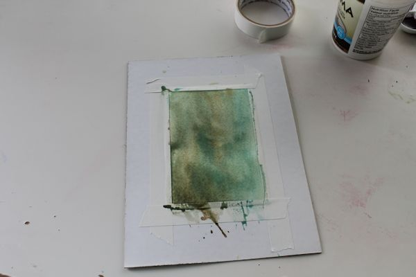 painting a watercolor background wet into wet