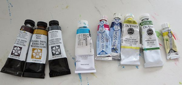 watercolor painting palette